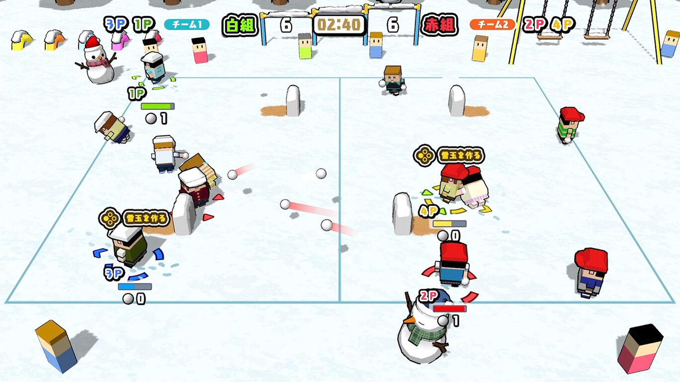 もっと遊べるパック(雪合戦・輪ゴム銃・一輪車レース)