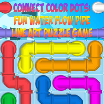 Connect Color Dots: Fun Water Flow Pipe Line Art Puzzle Game