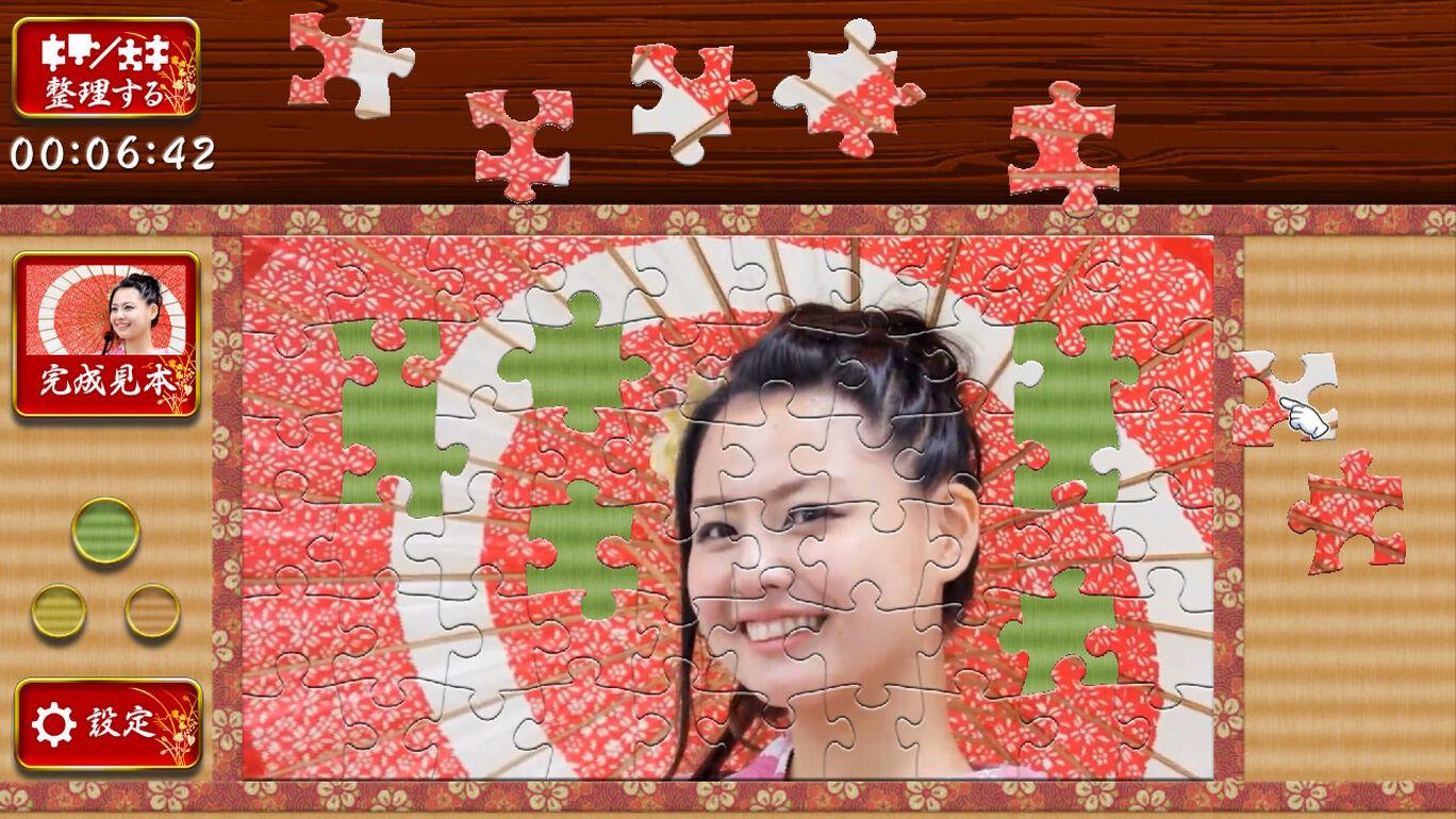 うごくジグソーパズル 美しき女性