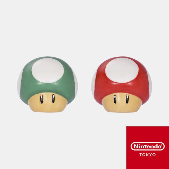 ソルト&ペッパー スーパーマリオ スーパーキノコ・1UPキノコ【Nintendo TOKYO取り扱い商品】