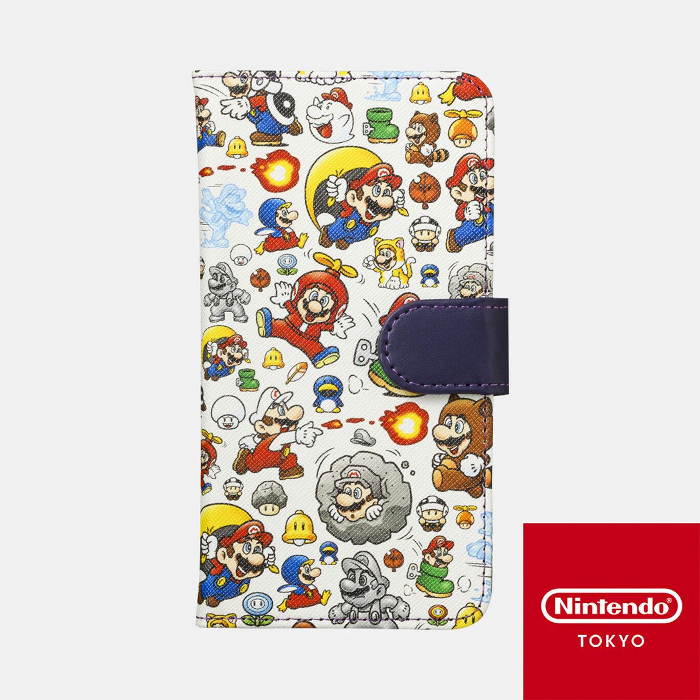 スマホケース スーパーマリオ パワーアップ マルチ対応【Nintendo TOKYO取り扱い商品】