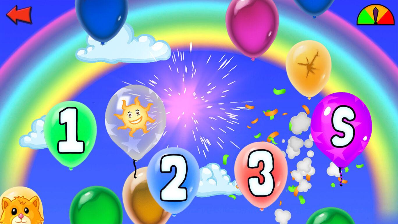 Balloon Pop - 就学前の子供と幼児のための学習ゲーム-14の言語で数字、文字、形、色を学ぶ
