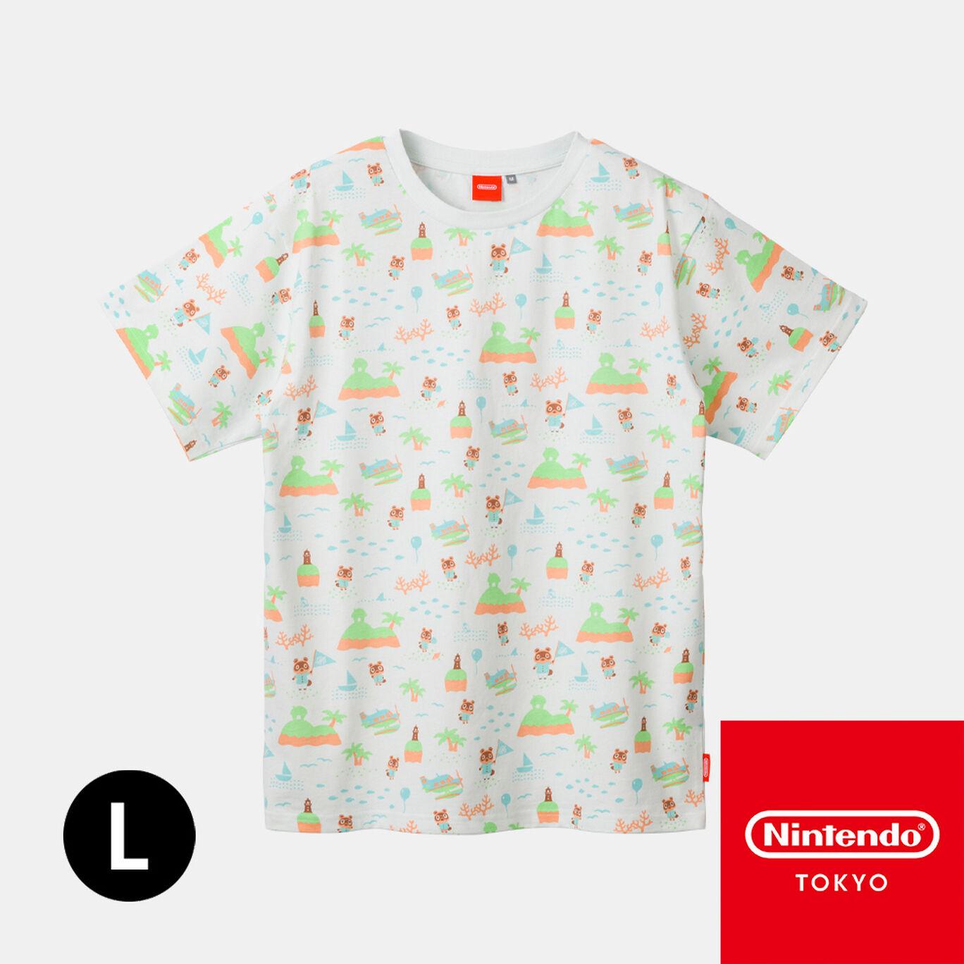 TシャツB L あつまれ どうぶつの森【Nintendo TOKYO取り扱い商品】