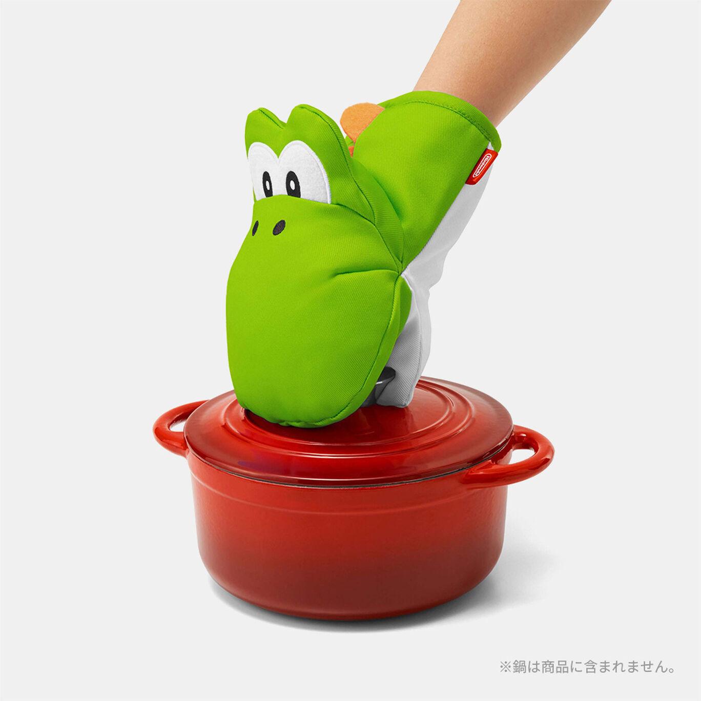 スーパーマリオ ホーム&パーティ 鍋つかみ&鍋敷き(ヨッシー)