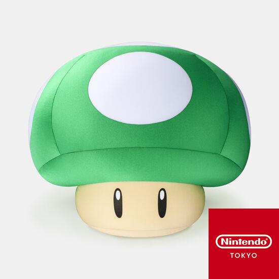 【新商品】クッション スーパーマリオ 1UPキノコ【Nintendo TOKYO取り扱い商品】