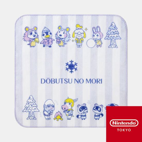 【新商品】タオルハンカチ ラベンダー どうぶつの森【Nintendo TOKYO取り扱い商品】