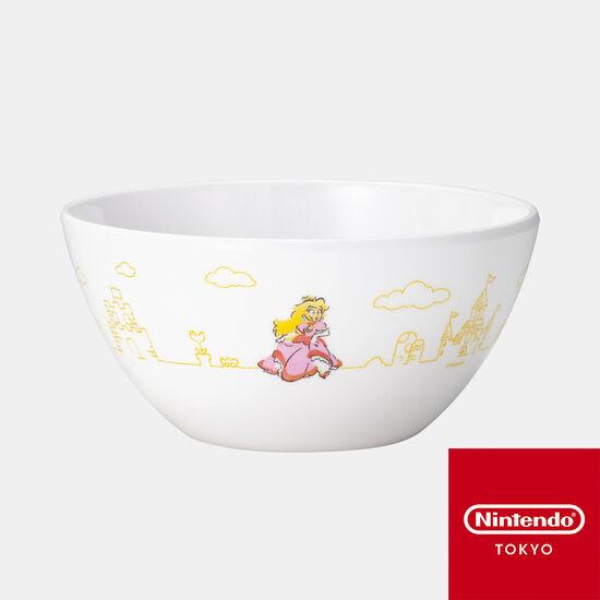 メラミンボウル スーパーマリオファミリーライフ ピーチ【Nintendo TOKYO取り扱い商品】
