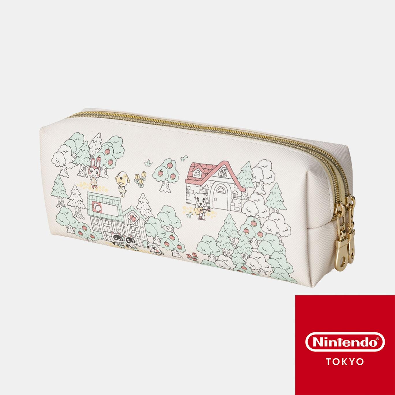 Wファスナーポーチ どうぶつの森【Nintendo TOKYO取り扱い商品】