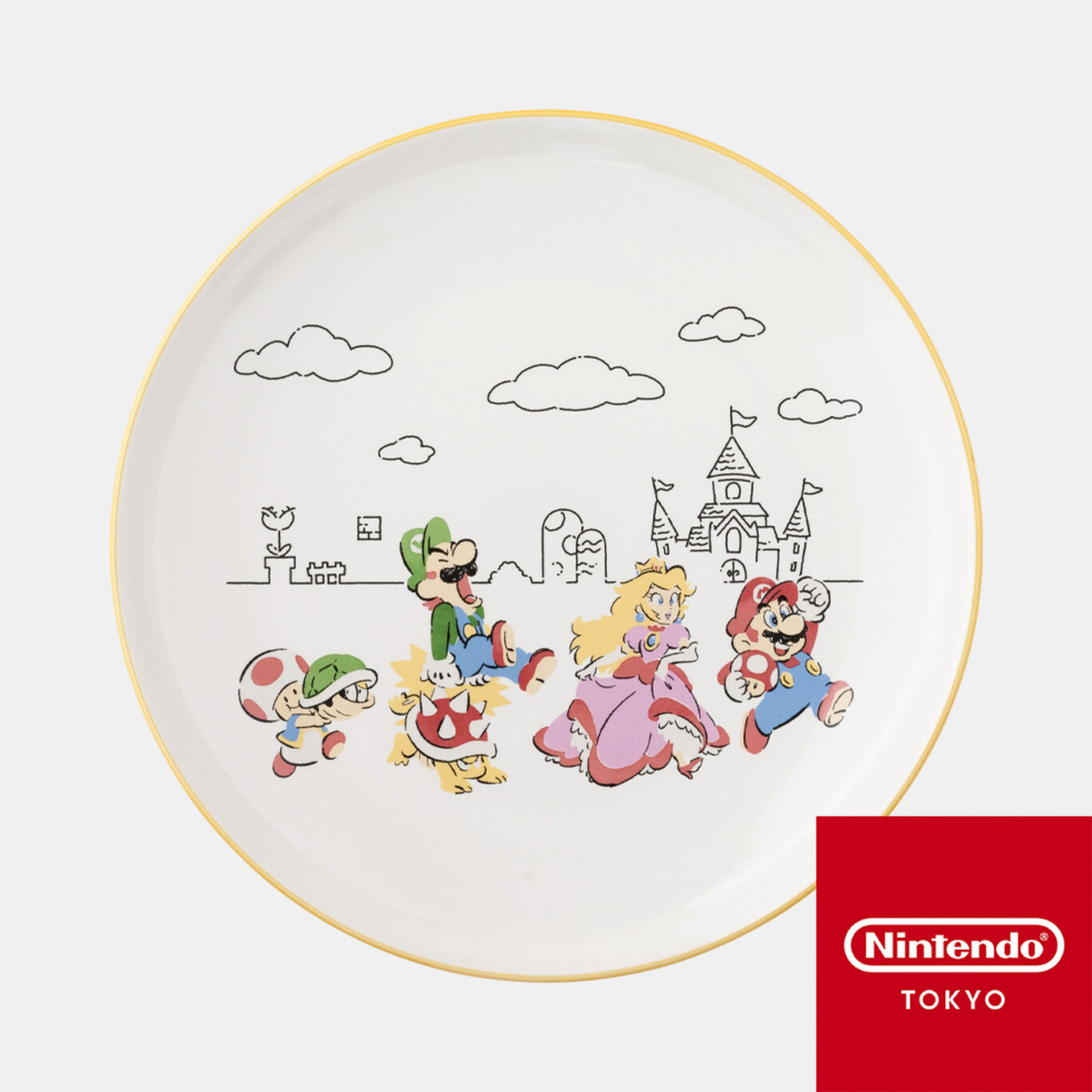 陶器大皿 スーパーマリオファミリーライフ【Nintendo TOKYO取り扱い商品】