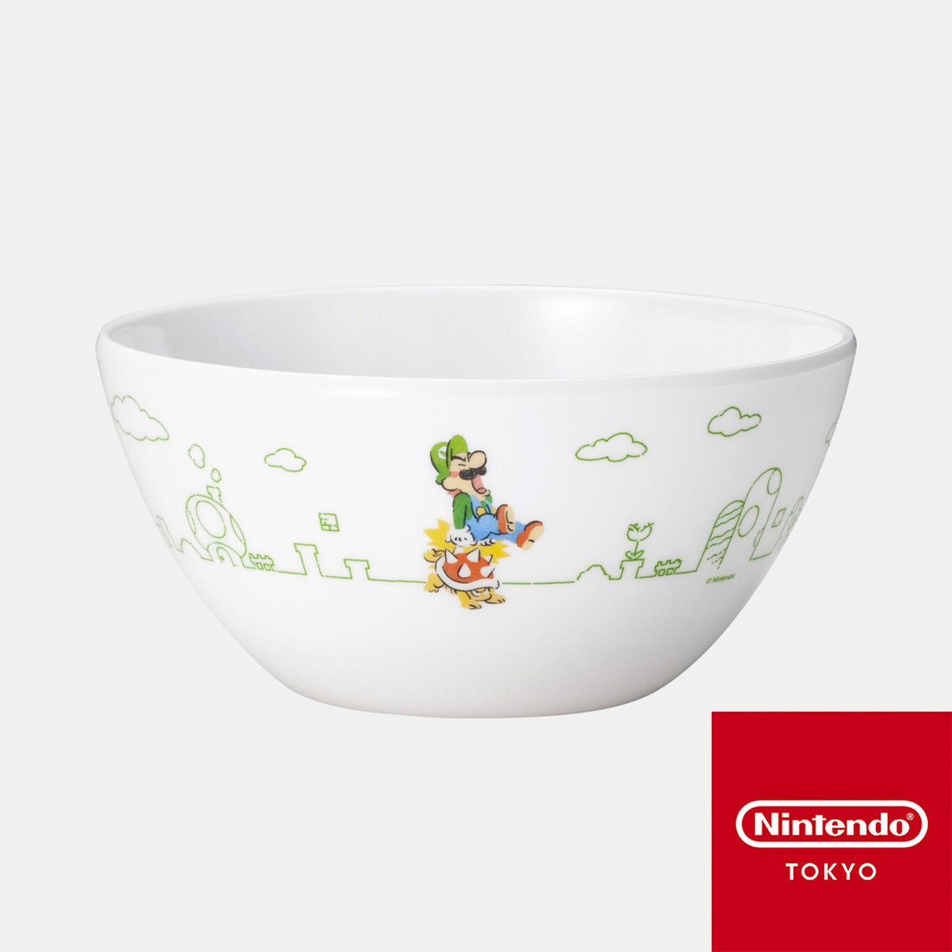 メラミンボウル スーパーマリオファミリーライフ ルイージ【Nintendo TOKYO取り扱い商品】