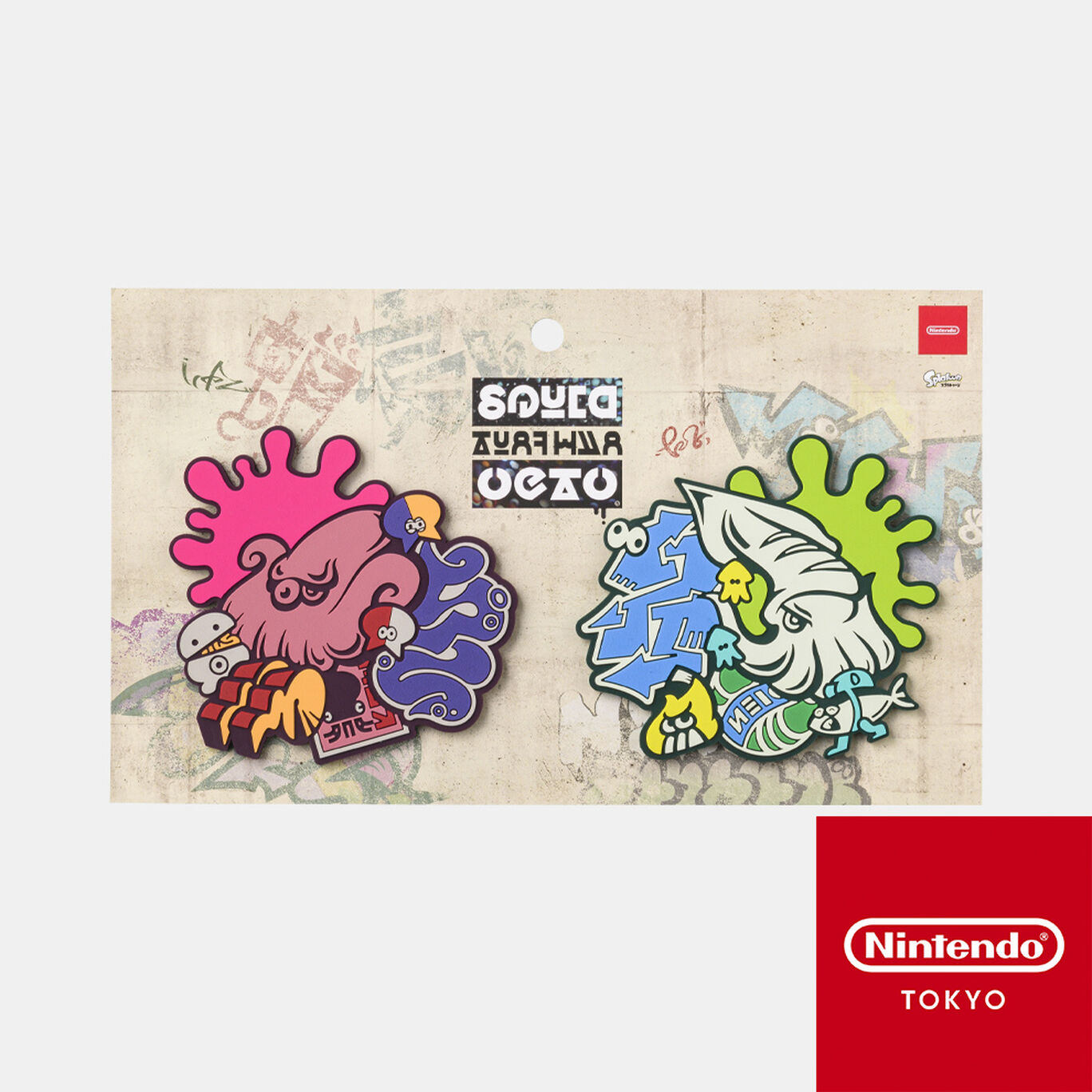 ラバーコースターセット SQUID or OCTO Splatoon【Nintendo TOKYO取り扱い商品】