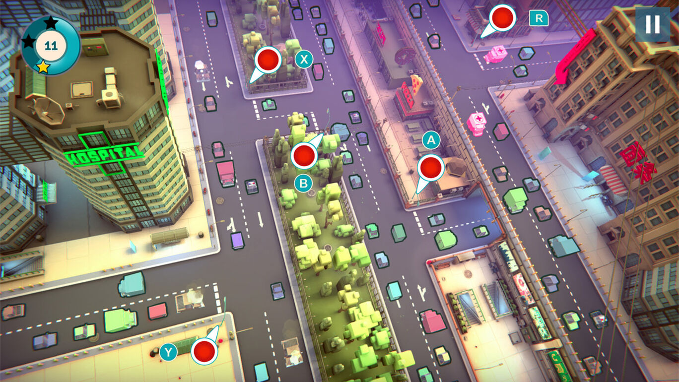 Urban Flow: 交通パニック