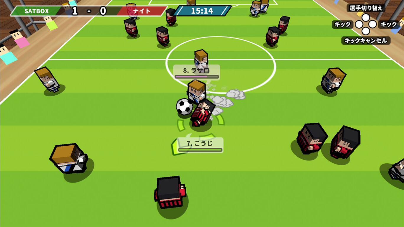 机でサッカー