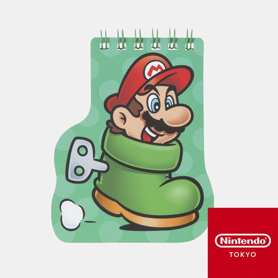 ダイカットメモ帳 スーパーマリオ パワーアップ B【Nintendo TOKYO取り扱い商品】