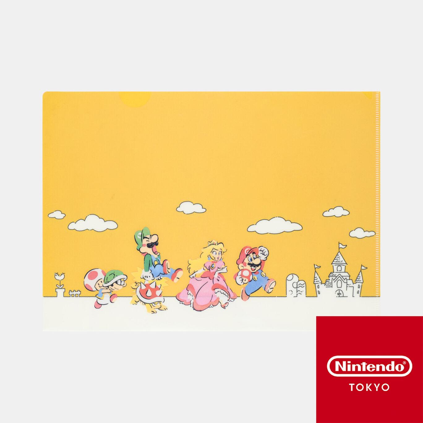 クリアファイル スーパーマリオファミリーライフ A【Nintendo TOKYO取り扱い商品】