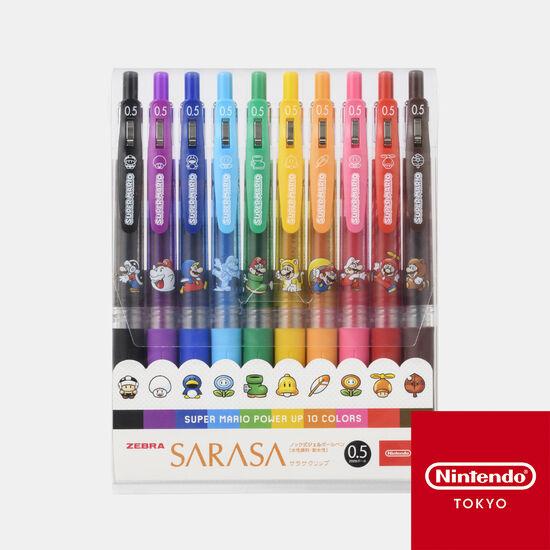 SARASAクリップ 10本セット スーパーマリオ パワーアップ【Nintendo TOKYO取り扱い商品】