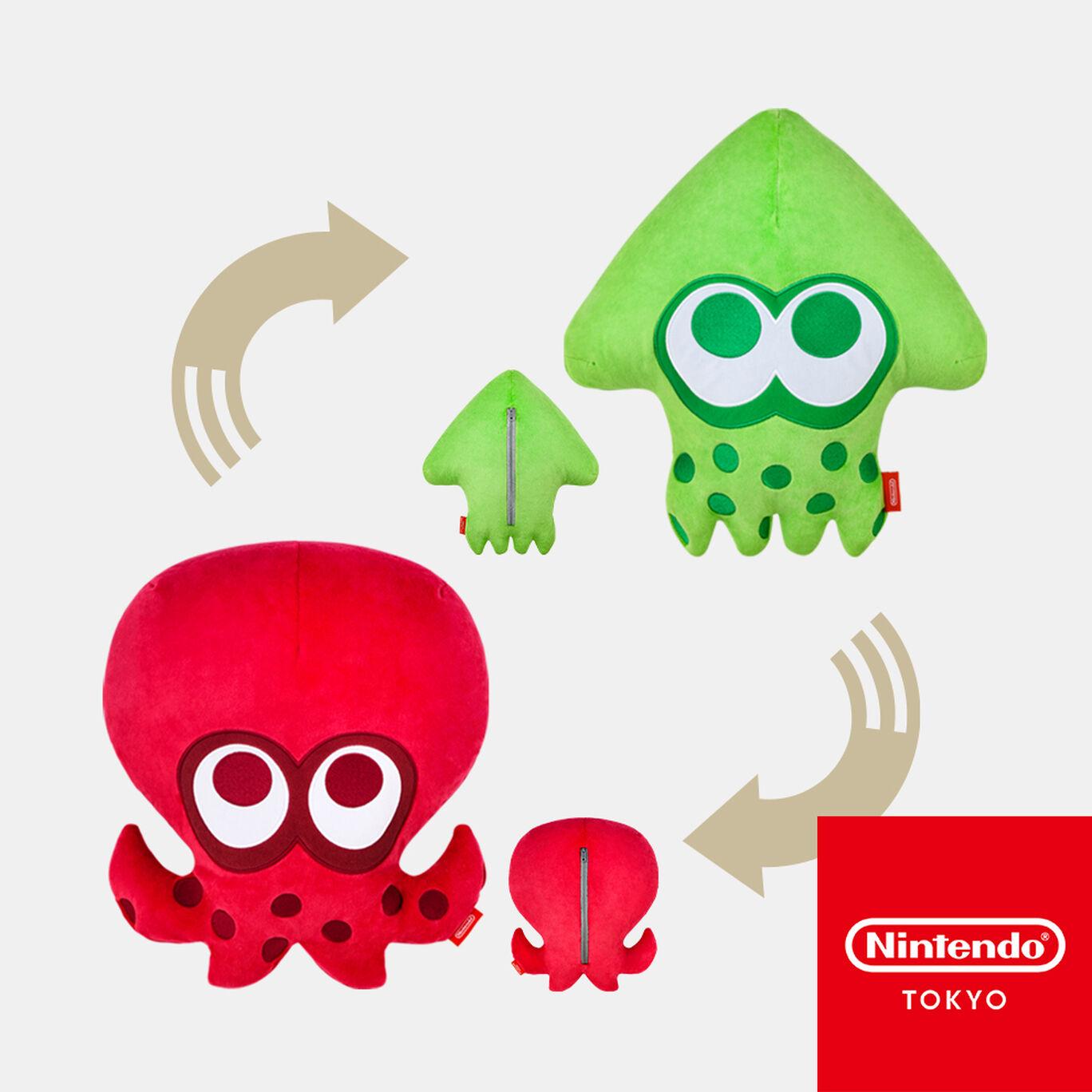 【新商品】リバーシブルクッション SQUID or OCTO Splatoon【Nintendo TOKYO取り扱い商品】