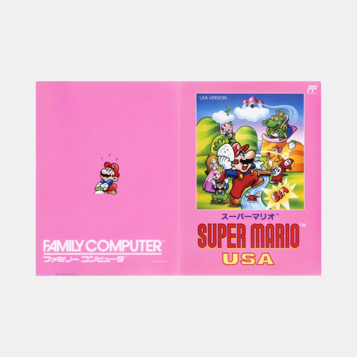 クリアファイル ダブルポケット スーパーマリオUSA【Nintendo TOKYO取り扱い商品】