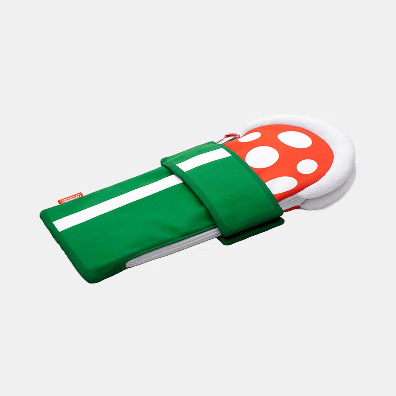 スーパーマリオ トラベル 折りたたみ傘用カバー(パックンフラワー)