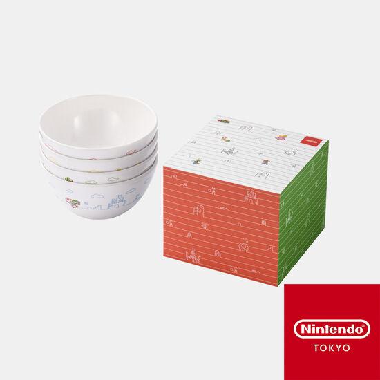 メラミンボウル 4個セット スーパーマリオファミリーライフ【Nintendo TOKYO取り扱い商品】