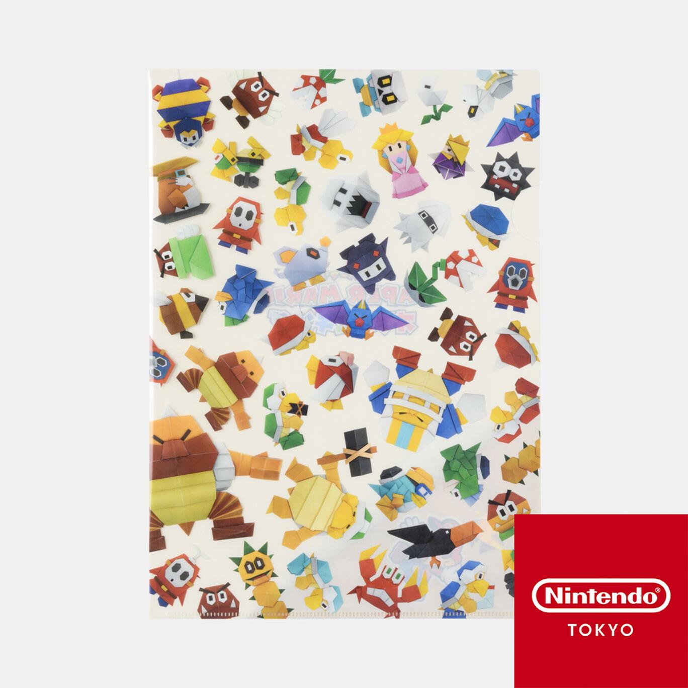A4クリアファイル ペーパーマリオ オリガミキング【Nintendo TOKYO取り扱い商品】