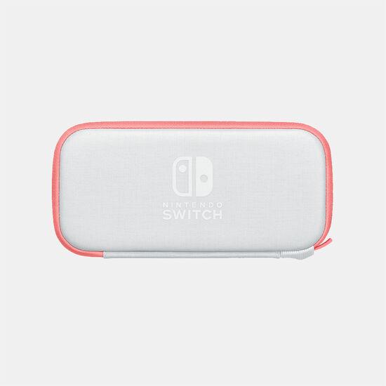 Nintendo Switch Liteキャリングケース コーラル(画面保護シート付き)