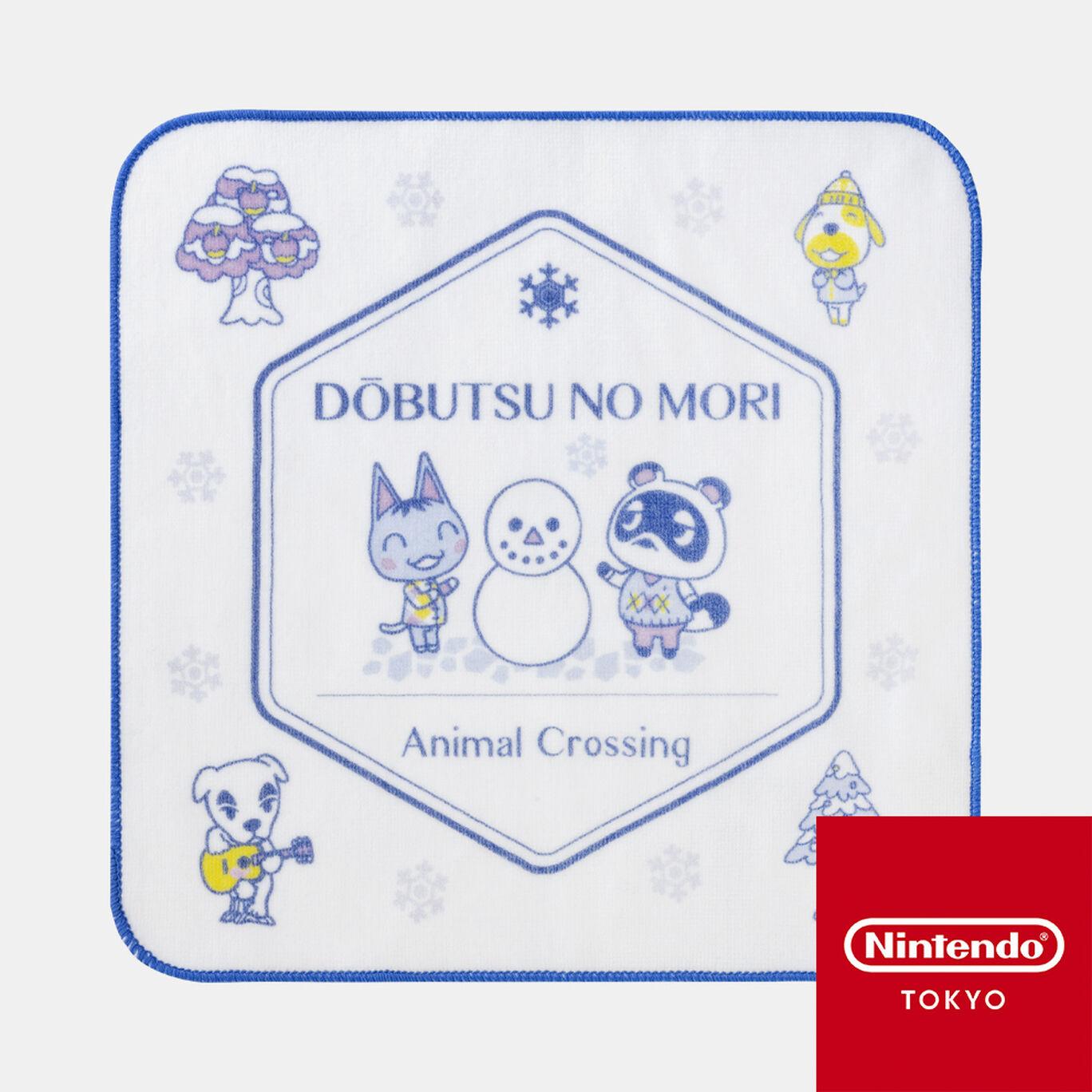 タオルハンカチ ホワイト どうぶつの森【Nintendo TOKYO取り扱い商品】