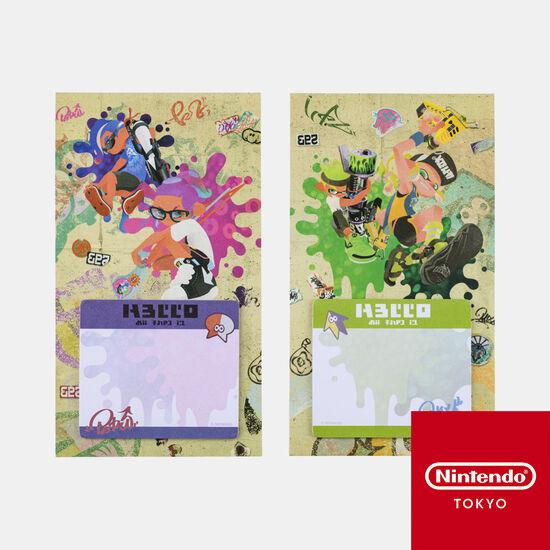 スタンドふせん SQUID or OCTO Splatoon【Nintendo TOKYO取り扱い商品】