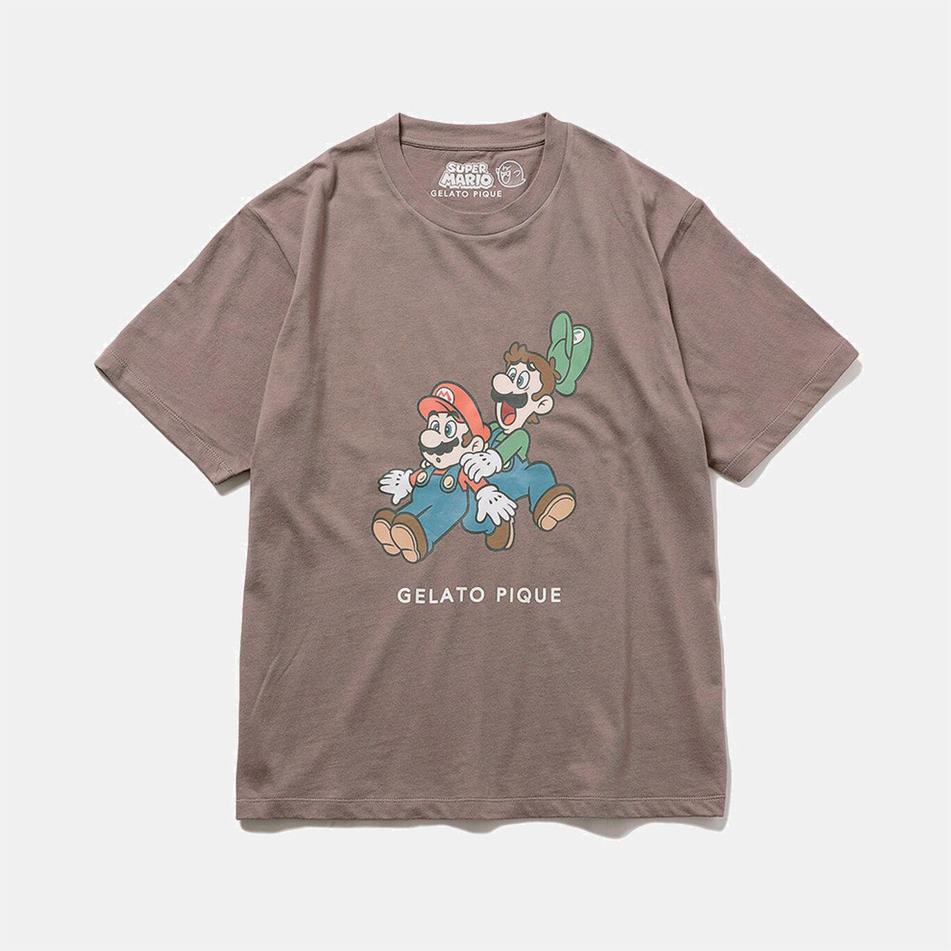 【スーパーマリオ】キャラクターTシャツ Grey F【SUPER MARIO meets GELATO PIQUE】