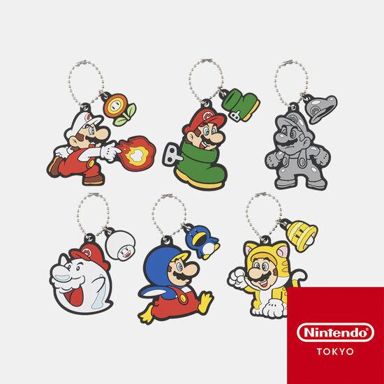 【単品】ラバーキーホルダーコレクション スーパーマリオ パワーアップ 第一弾【Nintendo TOKYO取り扱い商品】