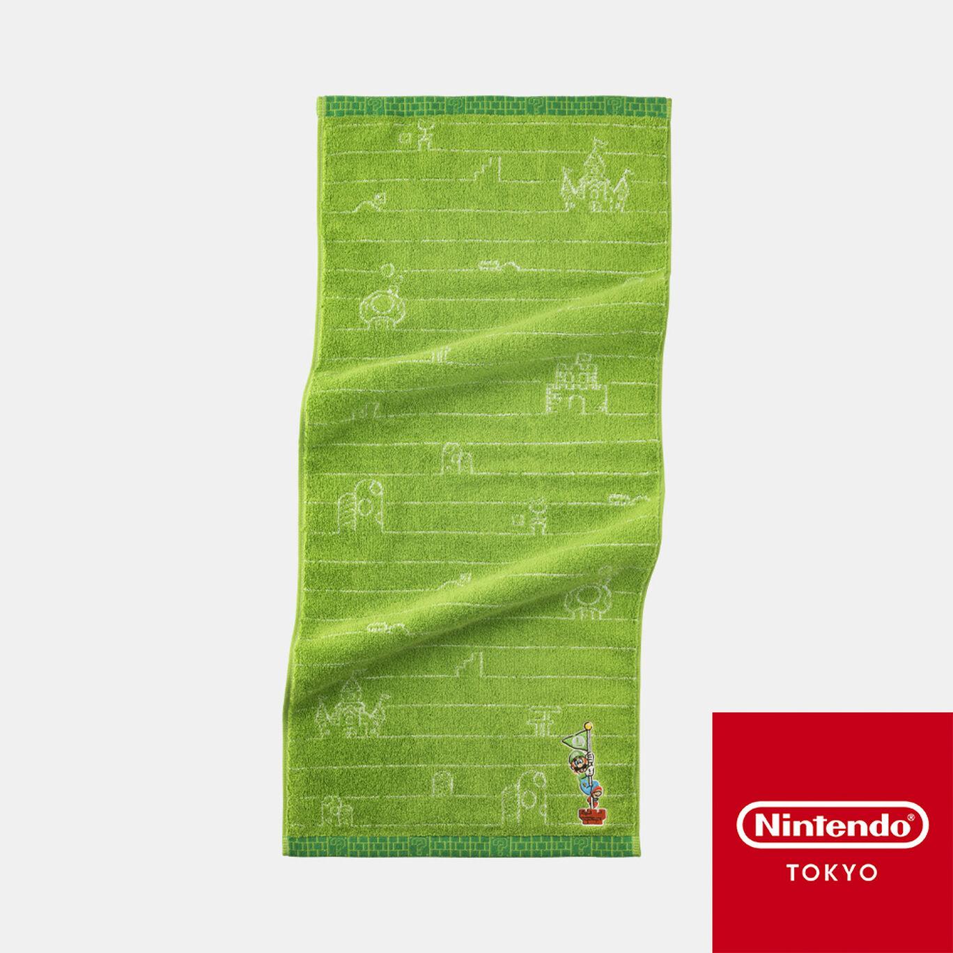 フェイスタオル スーパーマリオファミリーライフ ルイージ【Nintendo TOKYO取り扱い商品】