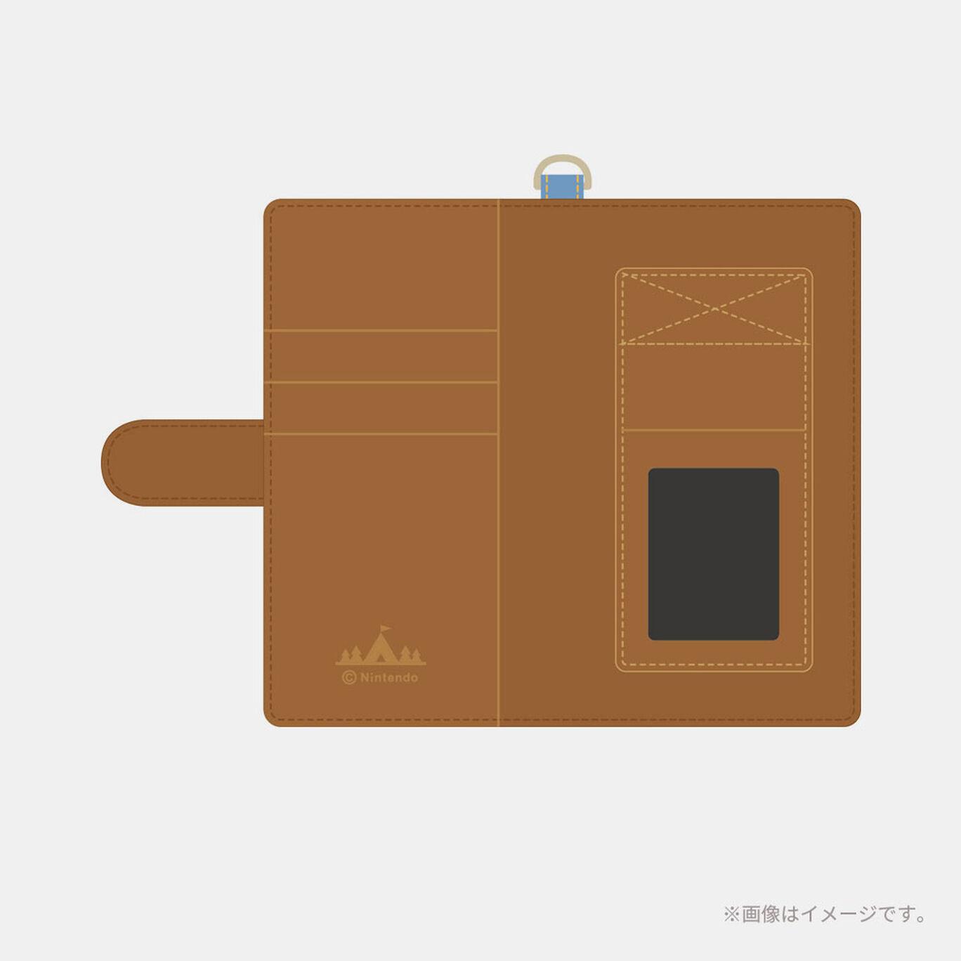 マルチスマートフォンケース どうぶつの森ポケットキャンプ(デニム)