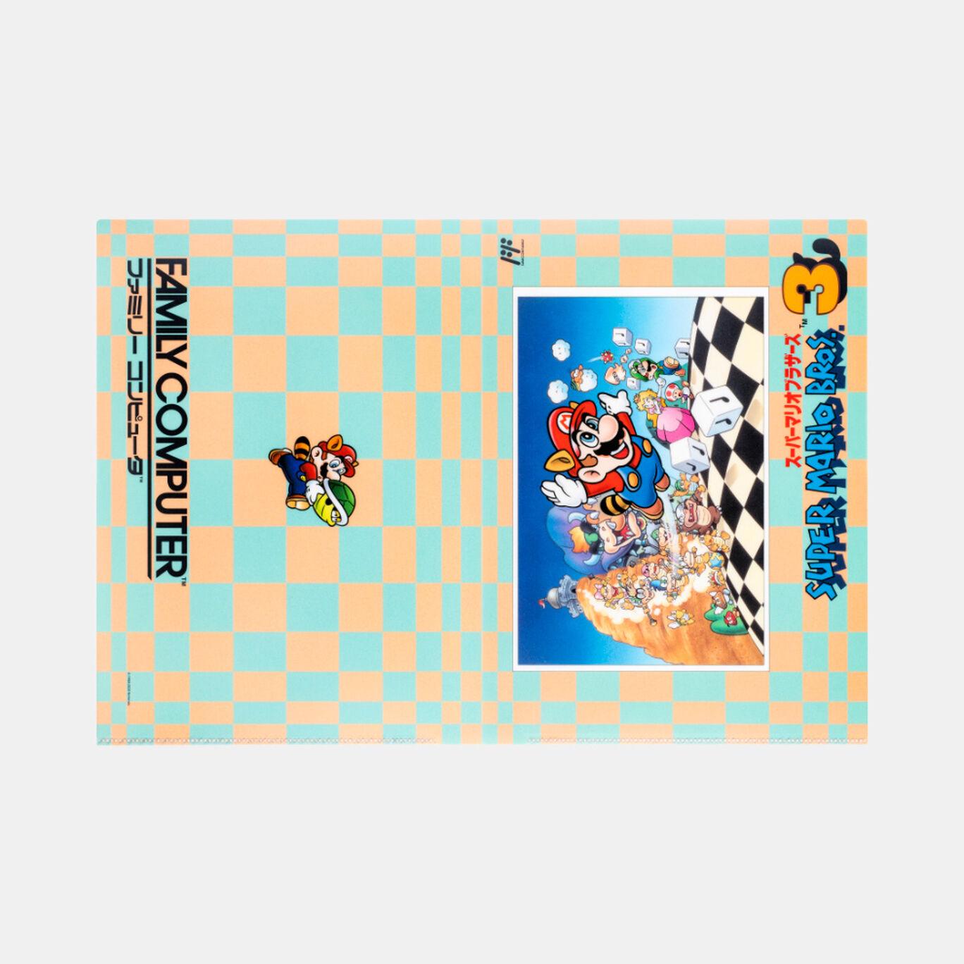 クリアファイル ダブルポケット スーパーマリオブラザーズ3【Nintendo TOKYO取り扱い商品】