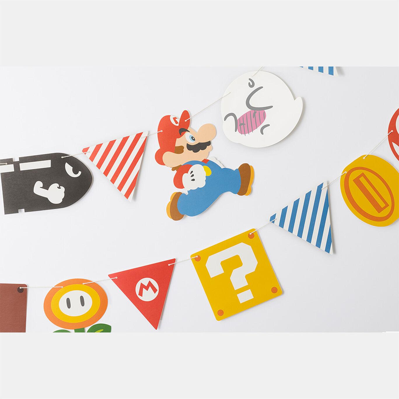 スーパーマリオ ホーム&パーティ ガーランド(キャラクター&アイテム)