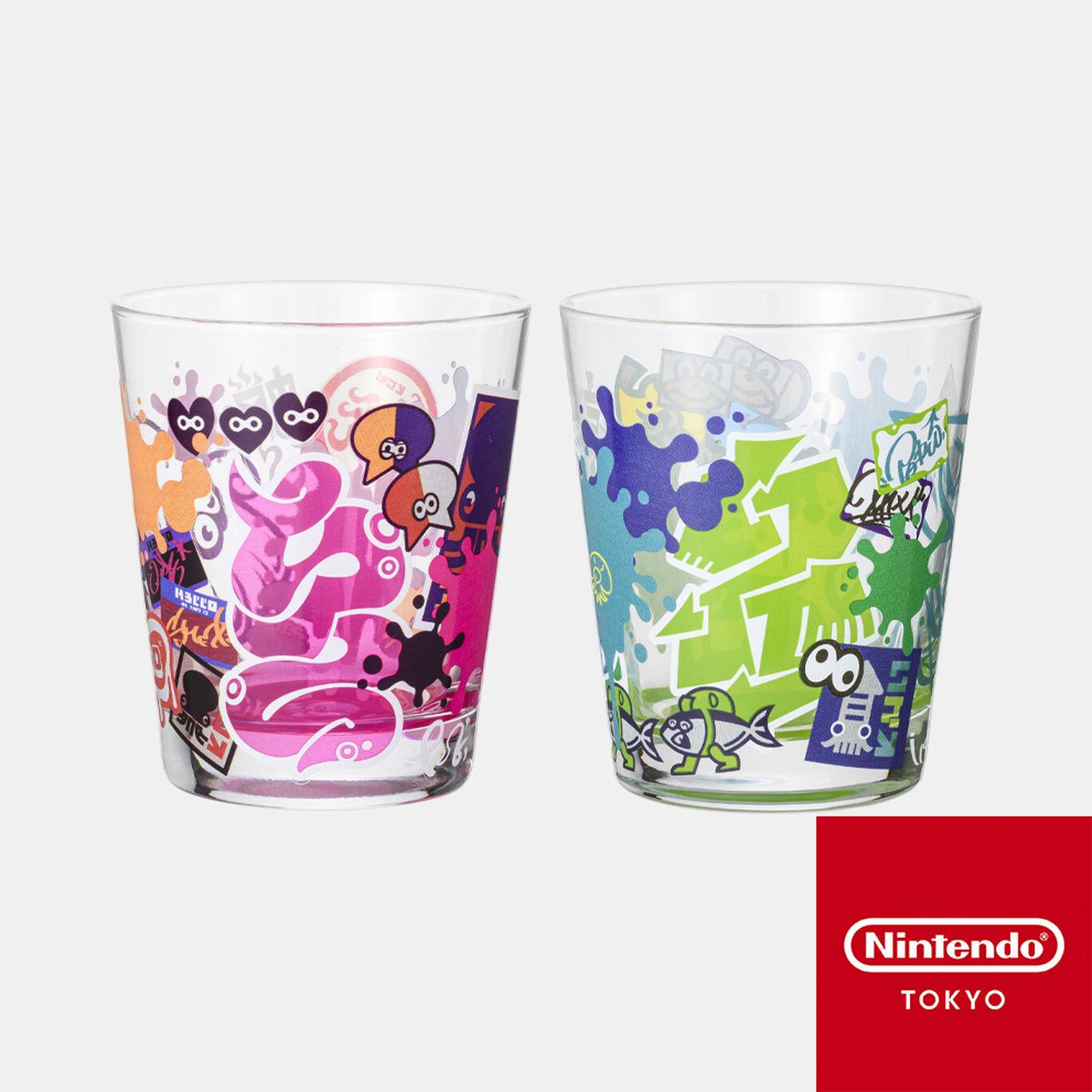 グラスセット SQUID or OCTO Splatoon【Nintendo TOKYO取り扱い商品】